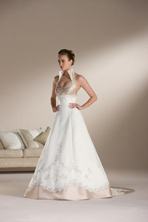 Sincerity Bridal 3509 ivory/taupe size 8