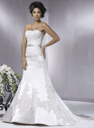 Maggie Sottero 1042 size10 Ivory/Pewter