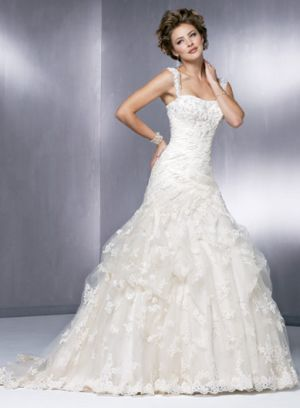 Maggie Sottero 3245 size  12 Ivory/Gold