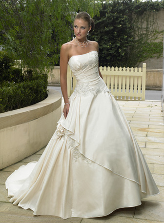 Maggie Sottero 626 size 10 Ivory/Pewter