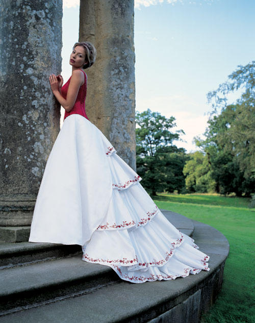 Sincerity Bridal 3091 red/ivory size 8 In Store Stock Wedding ...