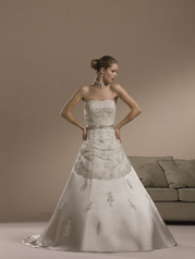 Sincerity Bridal 3547 size 8 coffee/silv