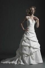 Sincerity Bridal 3592 size 6 ivory/champ