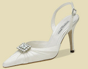 Duchesse Silk, Heel Height: 3 3/8