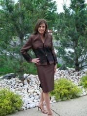 JL71 2-piece Junnie Leigh silk/wool/lace suit