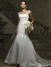 sexy and alluring soft sweetheart gown features exquistie beading on cap sleeves