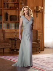 Two tone Chiffon A-Line Gown