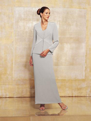 Two Piece Silky Crepe Suit