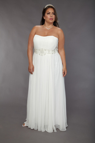 Sydney's Closet bridal. $50 upcharge on sz. 28+