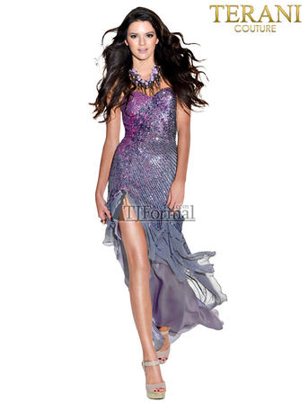 Kendall Jenner Dress on Prom Dresses   Terani Prom 1318p   In Stock Terani Prom