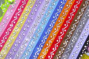 Colored Bra Straps with Crystals