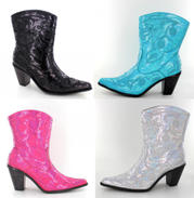 Short Sequin Boots