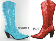 LB-0290-12 Tall Sequined Boots