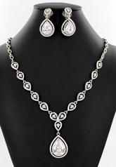 NS-TZ5321 Teardrop Necklace Set