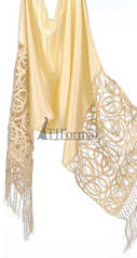 Satin Lace Shawl