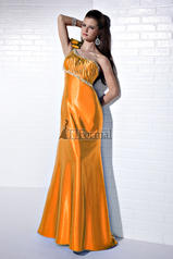 16647 One Shoulder Satin