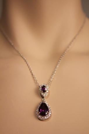 STYLE BY SOPHIE INC. - Rhinestone Tear Drop Necklace