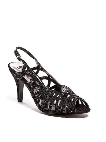 Lady Couture - Embelished Cutout Open Toe Slingback