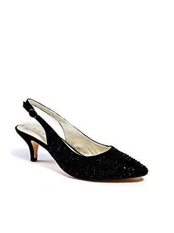 Lady Couture - Embellished Pointed Toe Slingback Pump