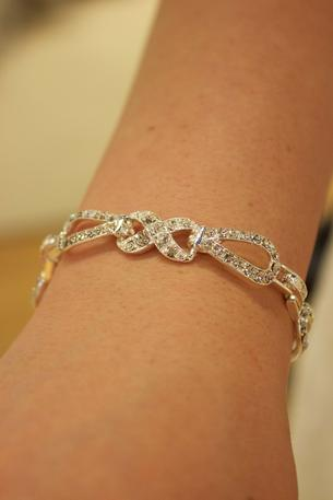 BELAIRE BRIDAL - Rhinestone Infinity Bracelet