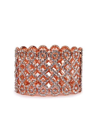 SUSAN SCHERTZ - Rhinestone Mesh Bracelet
